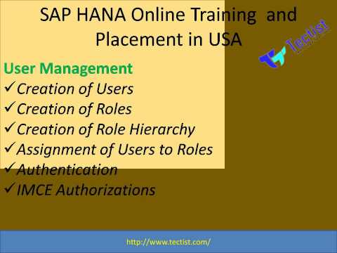 SAP HANA Online Training, Courses, live videos, Material