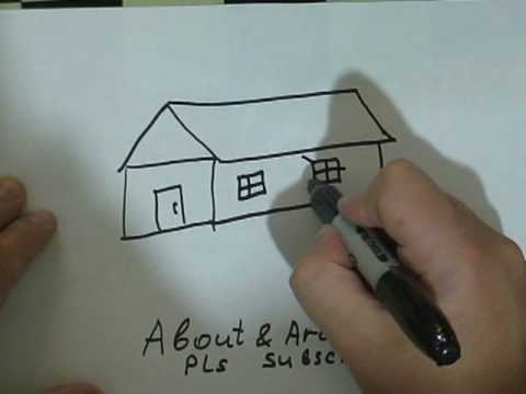 Drawing Lessons : How to Draw a House