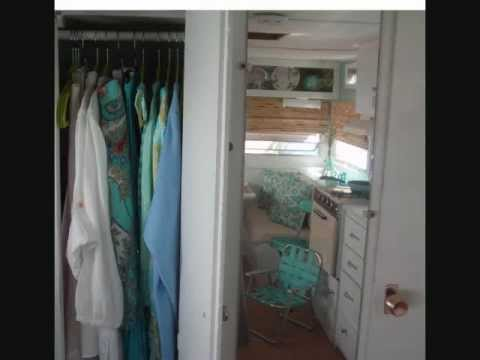 Tiny Summer House Vintage Travel Trailer Decorating small space Flint ...