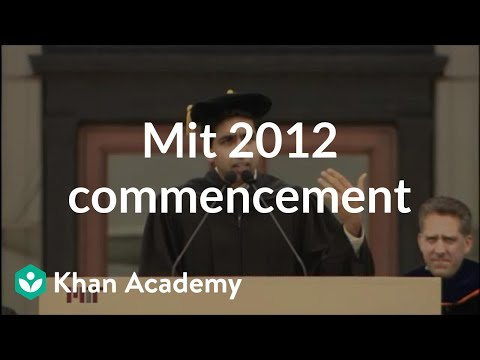 MIT 2012 Commencement Address