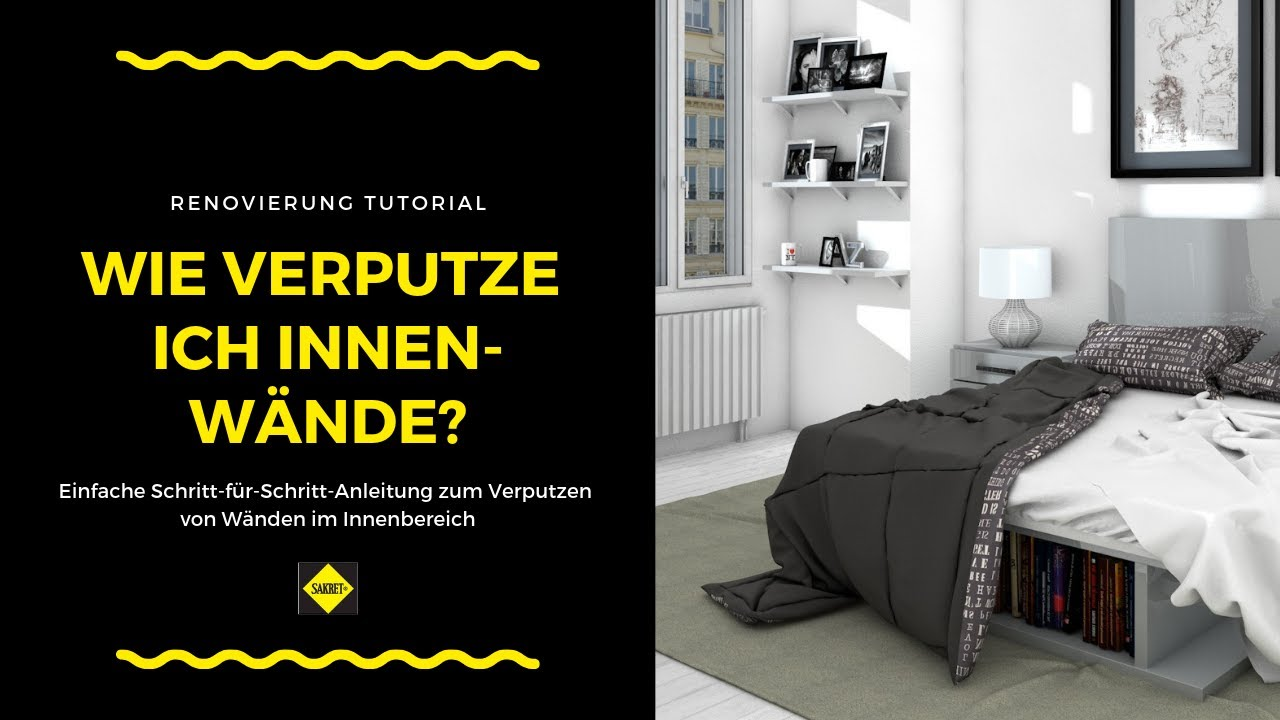 innenwand verputzen sakret heimwerker tv youtube. Black Bedroom Furniture Sets. Home Design Ideas