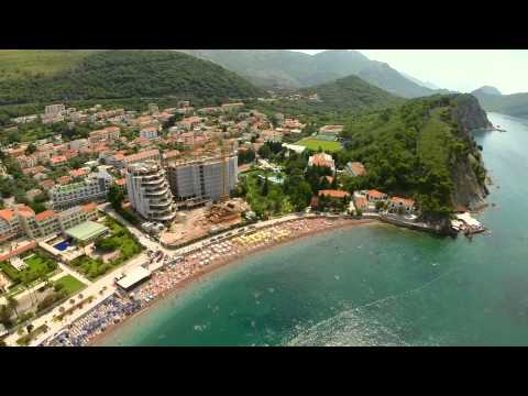 Montenegro Petrovac Air Video from a Drone GoPro Zenmuse H3