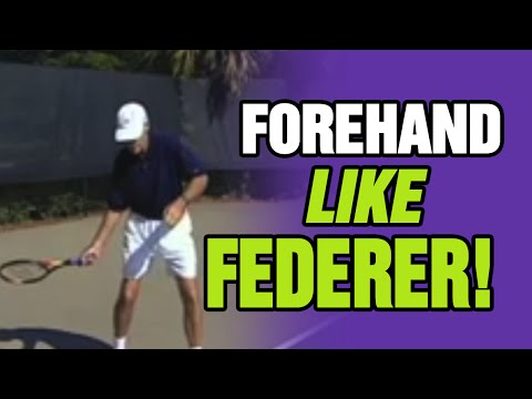 Tennis Lessons - Hit Your Forehand Like Roger Federer | Tom Avery Tennis 239.592.5920