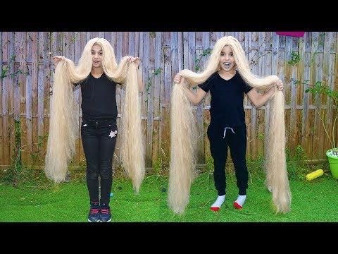 Long Hair,  pretend play funny videos for kids, les boys tv