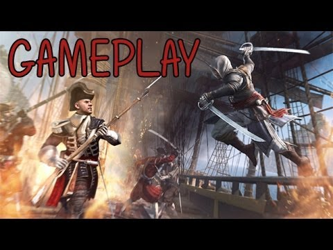 Assassin's Creed 4 Black Flag Naval Combat Gameplay