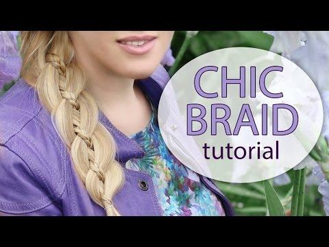 Chic braid hairstyle tutorial for long hair