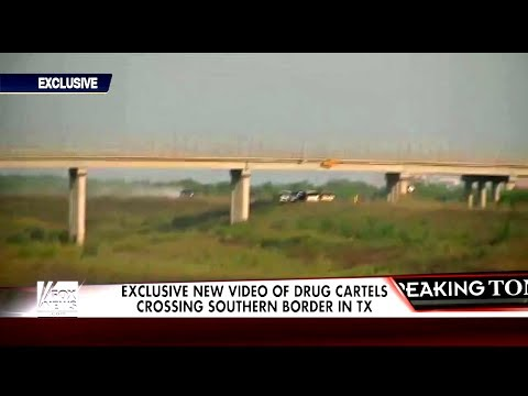 Exclusive video of drug cartels crossing southern border Mexico, Fox News