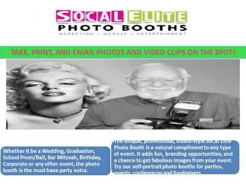 SOCAL ELITE PHOTO BOOTHS Corporate Photo Booths