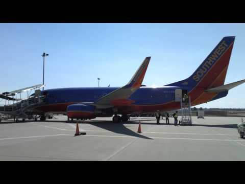 Southwest 737 on the ramp