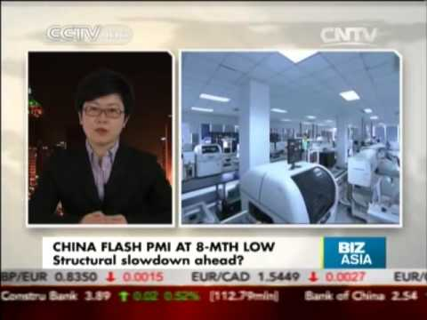 China Flash PMI At 8-Month Low