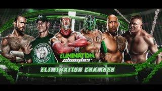 WWE Elimination Chamber Sin Cara Vs John Cena Vs Brock