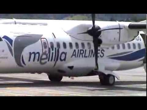 ATR 42-300 Melilla Airlines en aeropuerto de San Sebastián (LESO)