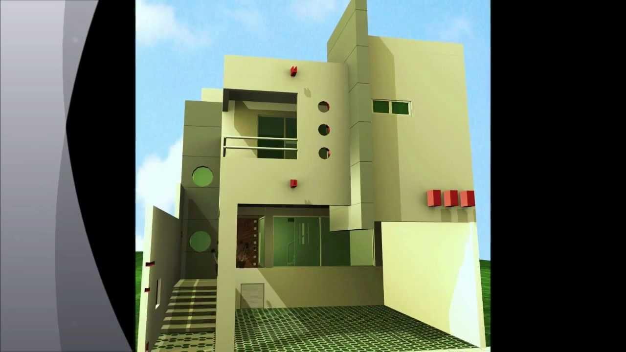 Fachadas casas modernas youtube for Residencias modernas fachadas