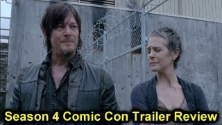 [The Walking Dead Season 4 Comic Con Trailer 2013 Review]