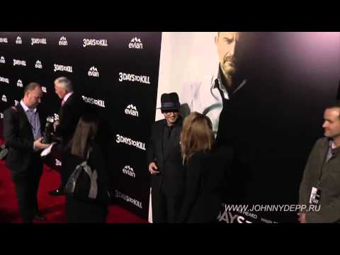 Johnny Depp, Amber Heard first official Redcarpet together at 3 Days To Kill LA premiere