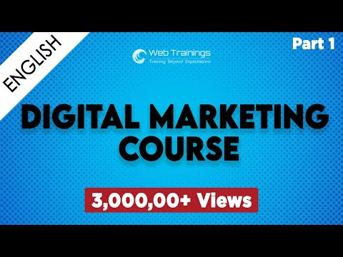Introduction to Digital Media Marketing - Online SEO Training - Part 1