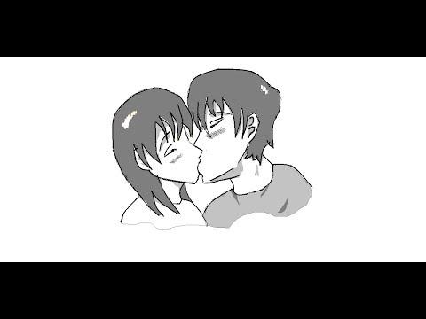 Vẽ bằng Paint - 2 người hôn nhau :x