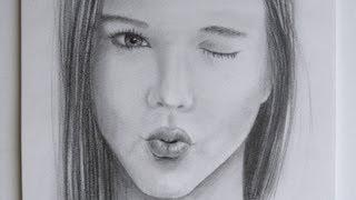 Como dibujar una boca mandando un beso