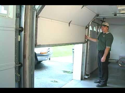 garage door balance test youtube