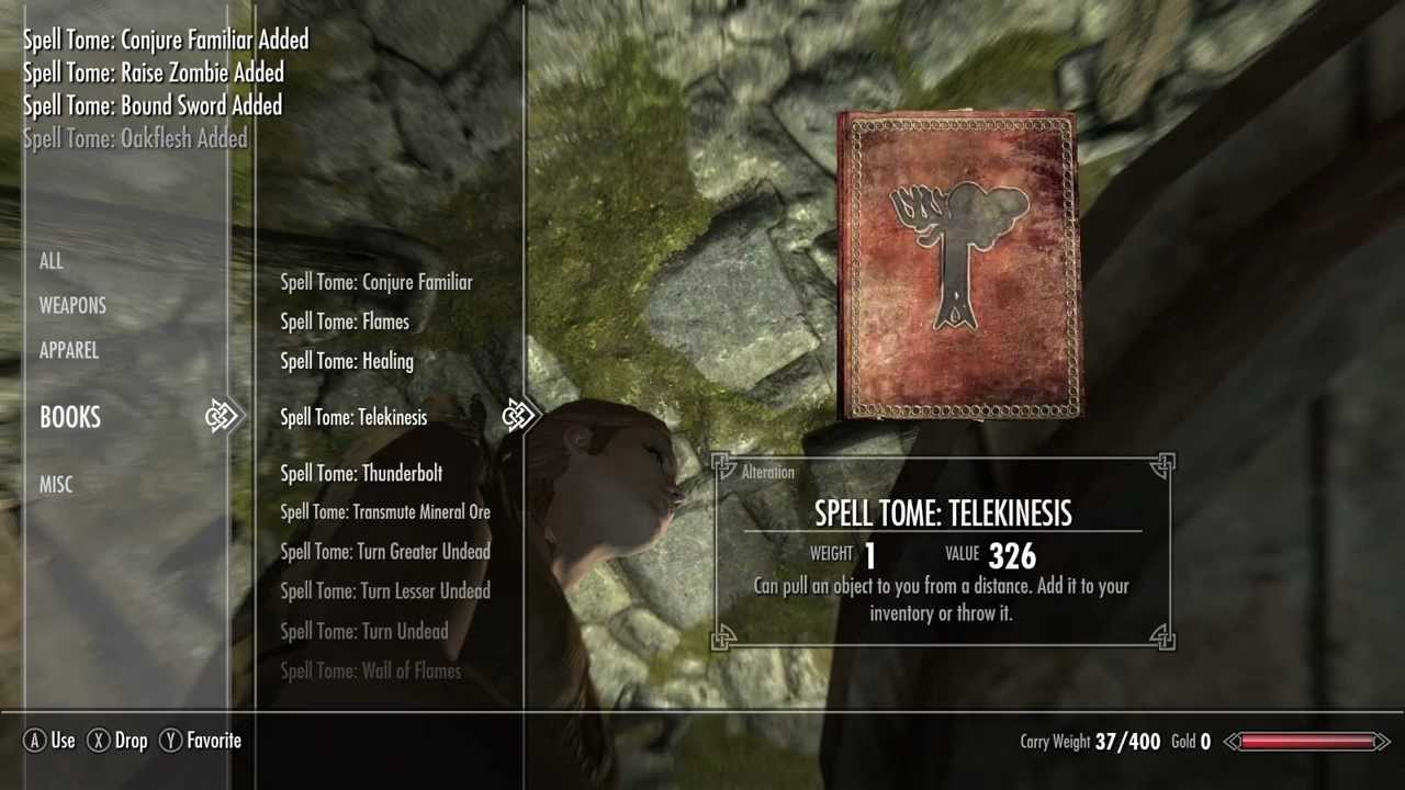 how to get wall of flames in skyrim