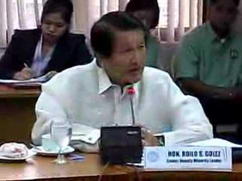 0 Congressman Roilo Golez, author of Transport Security Bill