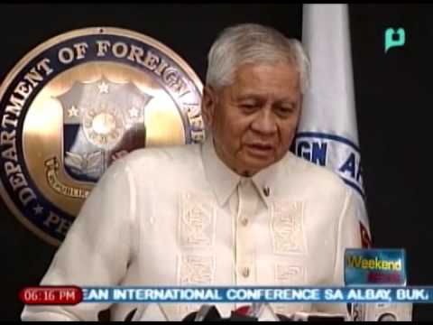 [The Weekend News] Foreign Affairs Sec. Albert Del Rosario, tutulak papuntang Cairo Egypt [05|18|14]