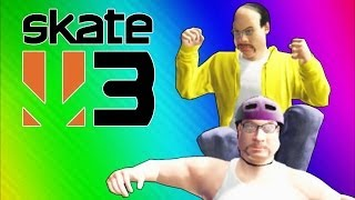 Skate 3 Funny Moments 3 - Cheeseburgers, Jumping Cars, Getting Hit by Cars, Epic Race! (Funtage)