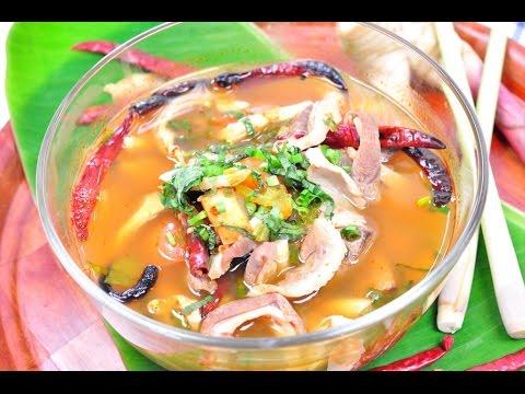 ต้มแซ่บเครื่องในหมู Hot and Spicy Soup with Pork Giblets