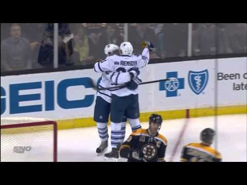 Bozak's 2nd Goal - Leafs 2 vs Bruins 2 - Jan 14th 2014 (HD)