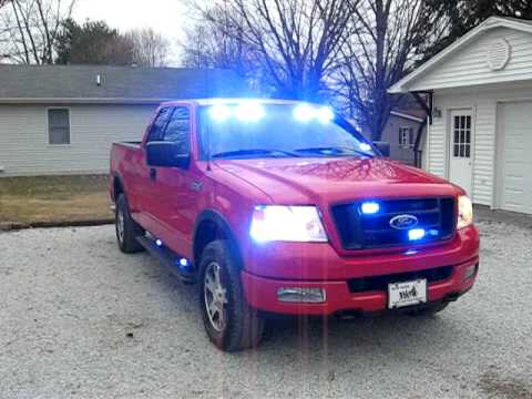 ford f 150 firefighters pov blue lights youtube. Black Bedroom Furniture Sets. Home Design Ideas