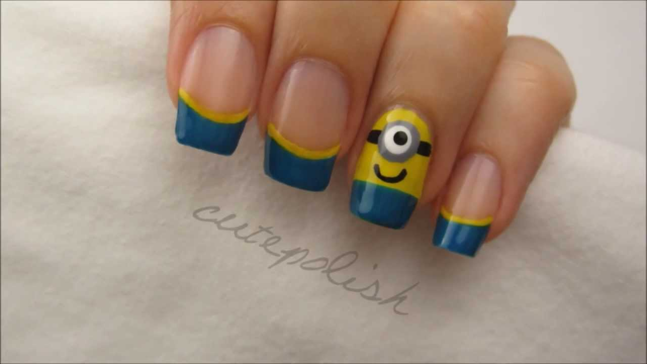 Nail Art Tutorials From Chalkboard Nails Let The Cute Minions Stay For My Version