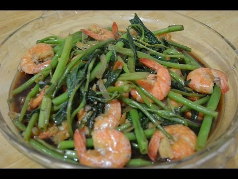 How to Cook Adobong Kangkong with Shrimp Lutong Pinoy ito!