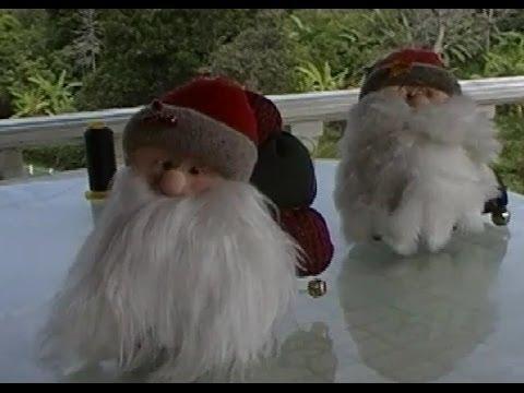Manualidades de navidad. Papá Noel para centro de mesa