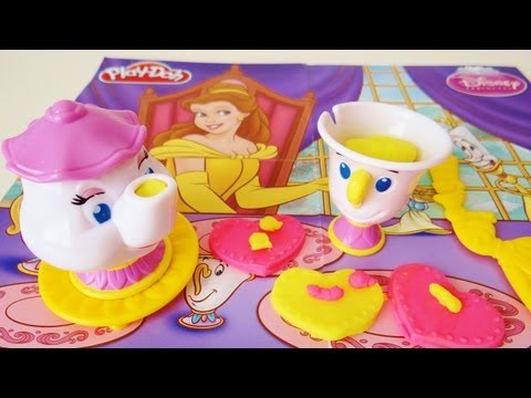 Play-Doh Belle's Magical Tea Party Unboxing