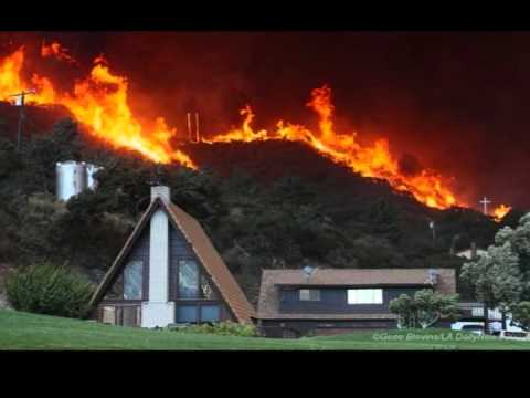 0 Lake Forest (Santiago Canyon) Fire footage (California) FULL
