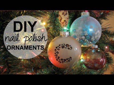 DIY Holiday Ornaments using NAIL POLISH! - Ünnepi díszek körömlakkal