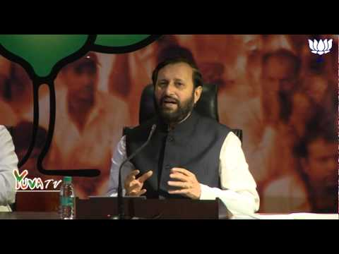 Shri Prakash Javadekar on questions on coal block allocation, Rahul's charges & Sonia's speech.