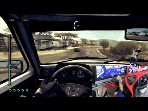 Dirt 3 Gameplay - XBox 360 w/ Fanatec GT2 - Kenya Historic Cup - HD