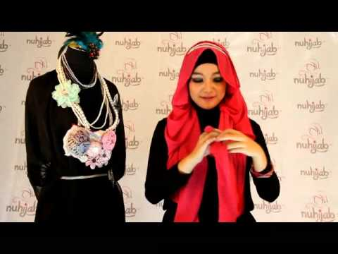 Tutorial Hijab PS2 (Plain Shawl Sifon) - Fuschia Pink ala Nuhijab #5
