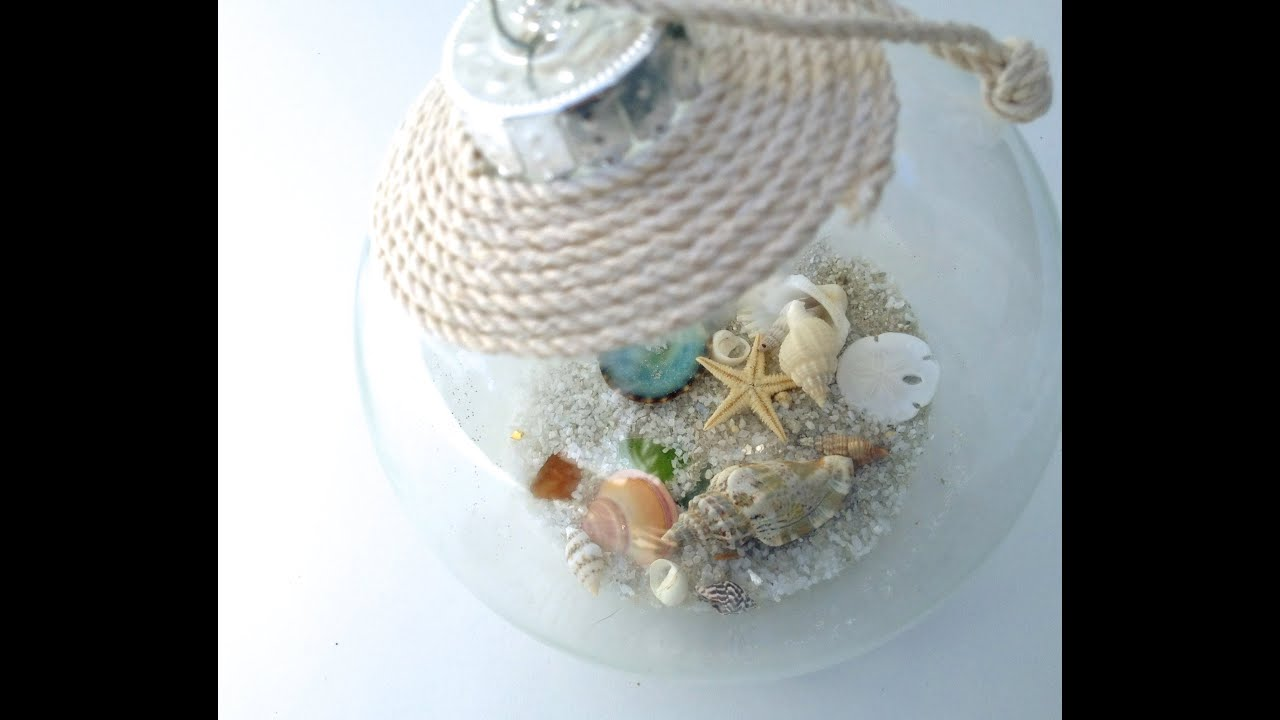 diy seashell christmas ornament youtube