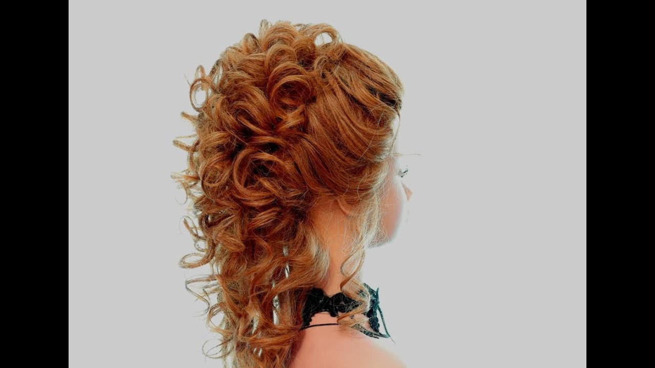 Wedding prom hairstyles for long hair - YouTube