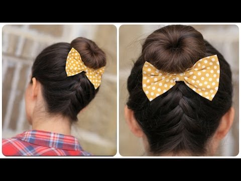 DIY French-Up High Bun