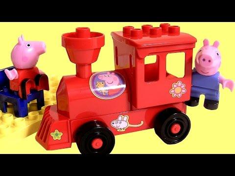 Peppa Pig Blocks Locomotive Mega Train Construction Set - Estación de Tren Juego de Bloques