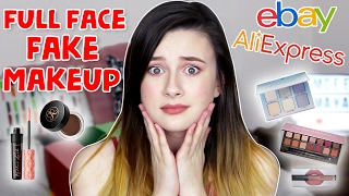 Full Face of FAKE Makeup Challenge?! ♡