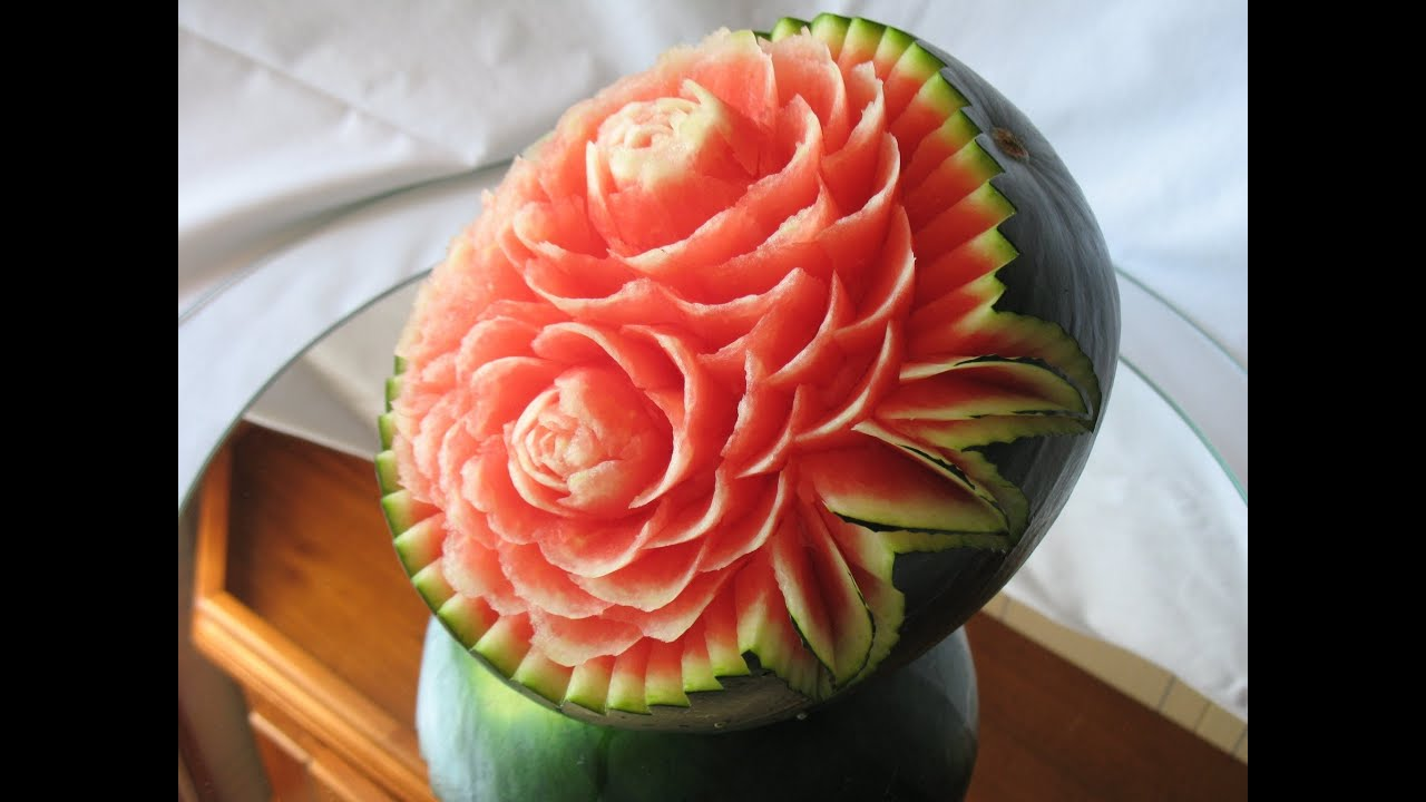 Watermelon Fruit Carving Cake Ideas and Designs