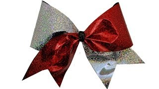 How To Make A Holographic Cheer Bow DIY