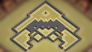 Clash Of Clans Town Hall 9 (TH9) Best War Base 2015
