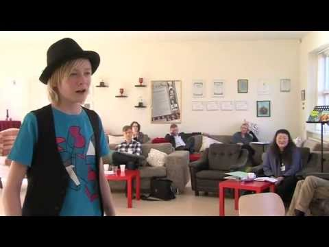 David Lowe teaches boy soprano, 14-year-old Mathias (Masterclass 2011 at Den Jyske Sangskole)