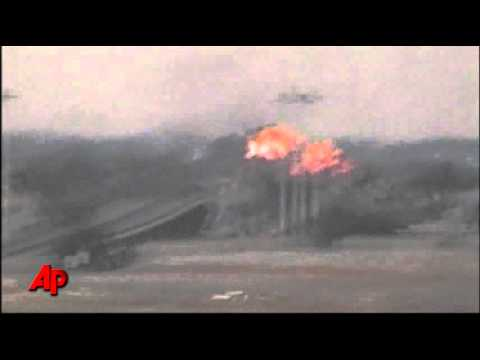Raw Video: Plane Shot Down by Libyan Rebels