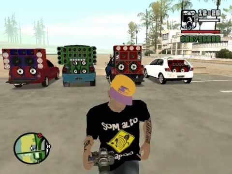 GTA Paredões- Os Paredoes juntos Com mod de Som 3d